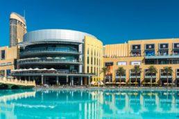 O Dubai Mall está localizado na cidade que lhe dá o nome, nos Emirados Árabes, e figura entre os maiores shoppings do mundo. Inaugurado em 2008, tem mais de 350 mil m² e 1.200 salas para o comércio