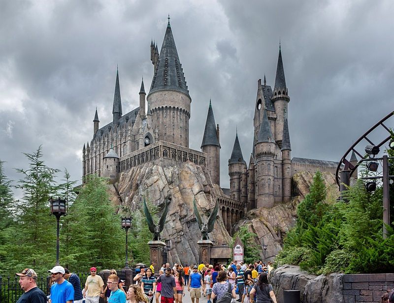 Castelo de Hogwarts na área do Harry Potter, em Orlando