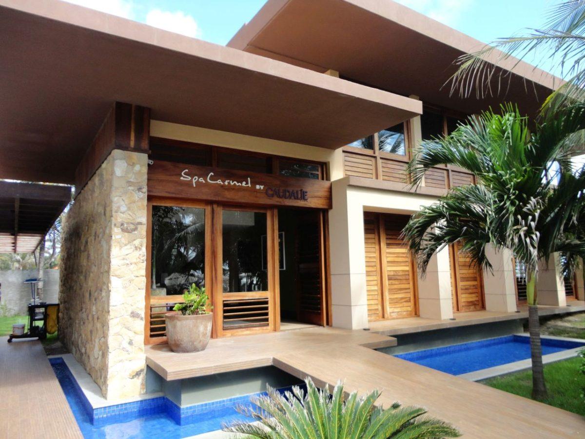 Spa do resort Carmel Cumbuco, que trabalha com produtos Caudalie