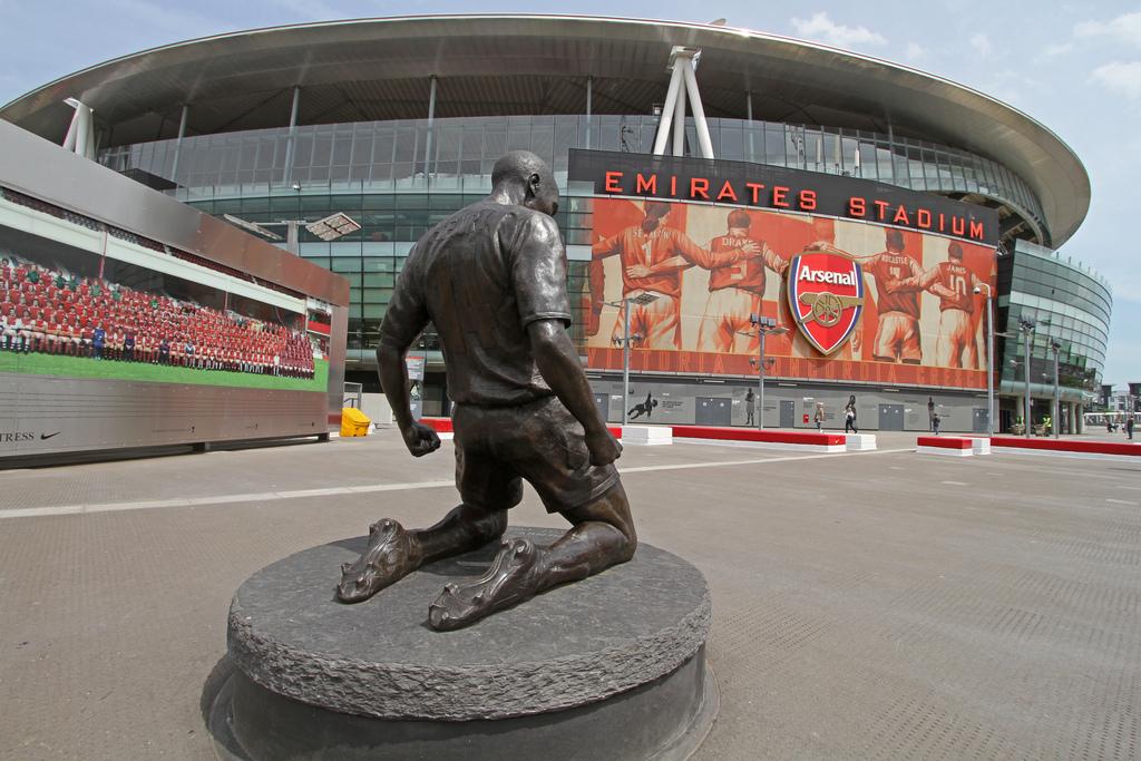 Emirates Stadium, uma das casas do futebol inglês