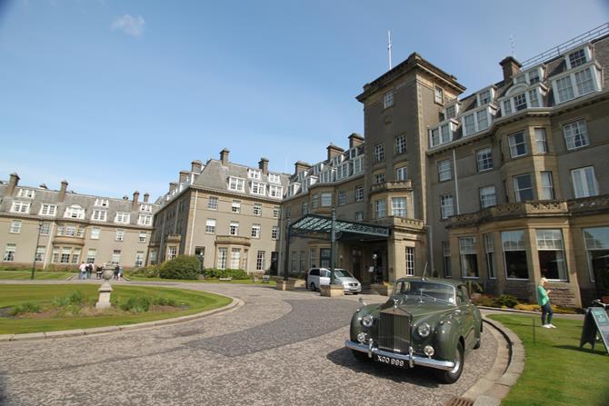 O luxuoso hotel Gleneagles, na Escócia