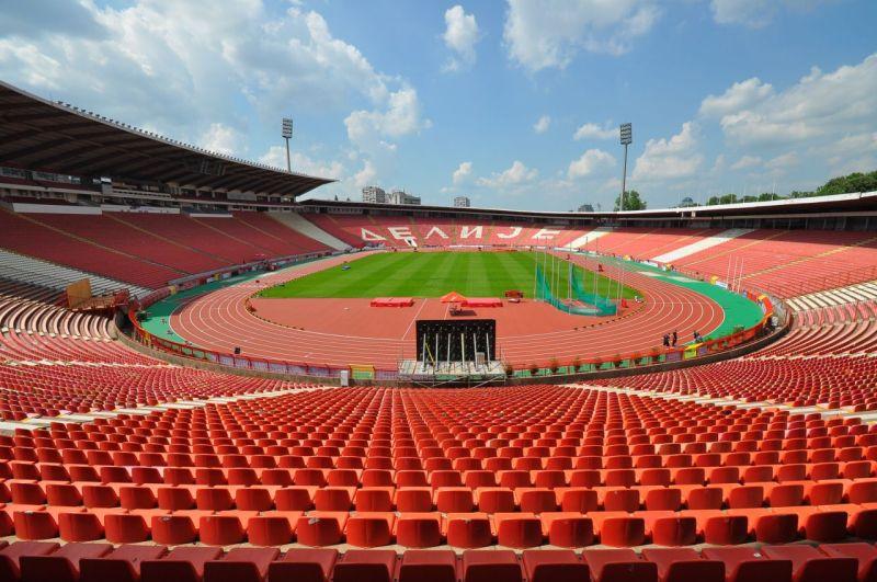 Estádio Estrela Vermelha, na Sérvia