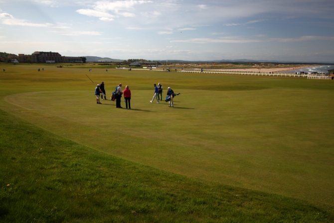 Old Course St. Andrews, primeiro campo de golfe do mundo