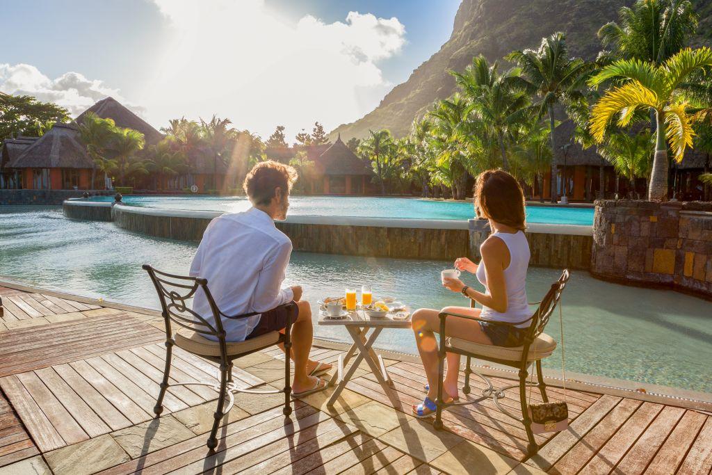 Casal nas Ilhas Maurício