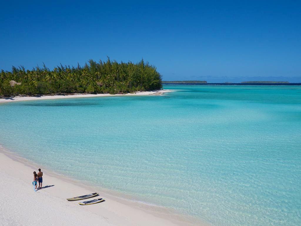 Casal na Polinésia Francesa