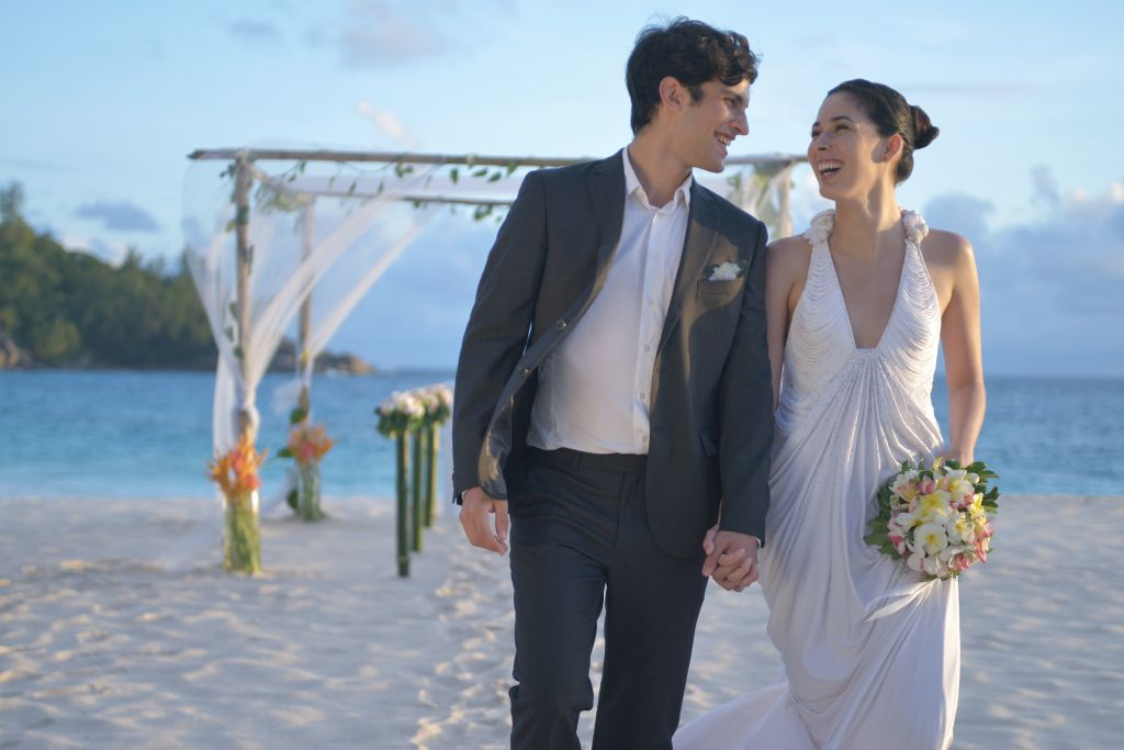 Casal em lua de mel Seychelles