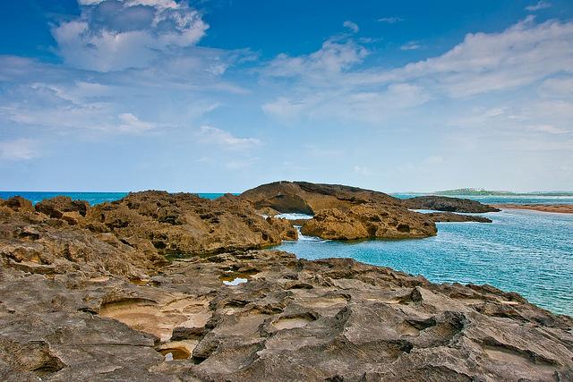 Praia em Puerto Rico