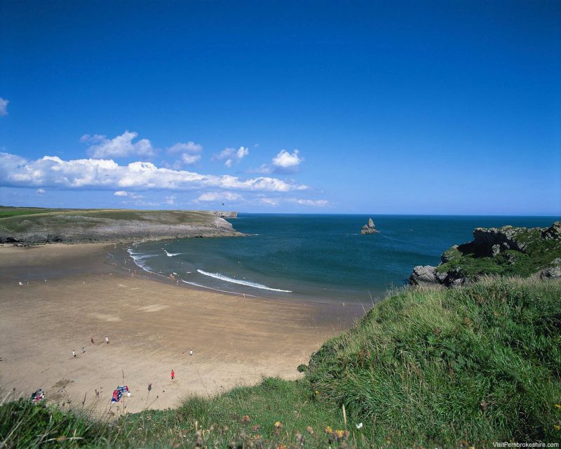 Broad Haven South Beach, em Pembrokeshire