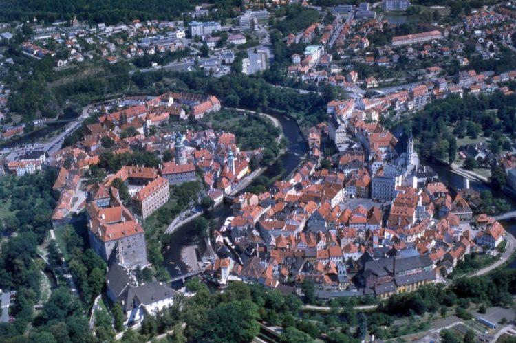 Cidade do interior República Checa