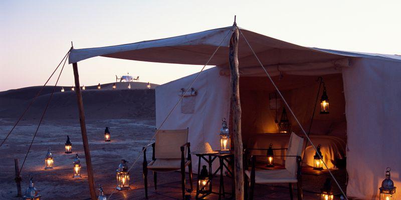 Desert Camp do Dar Ahlam, no Marrocos