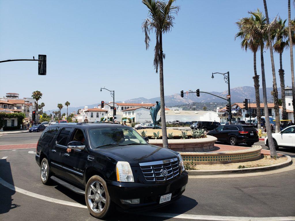 Centro de Santa Bárbara, na Califórnia