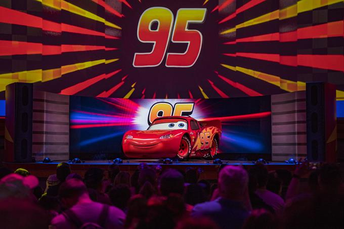 KA-CHOW! Lightning McQueen's Racing Academy debuted March 31, 2019, at Disney's Hollywood Studios at Walt Disney World Resort in Lake Buena Vista, Fla. This new show experience invites guests into the world of Pixar Animation Studios' Cars films as they become rookie racers and learn the rules of the road from Piston Cup Champion Lightning McQueen. (Matt Stroshane, Photographer)