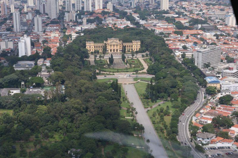 Museu do Ipiranga pode ser visto por um outro ângulo pelo voo panorâmico |Divulgação
