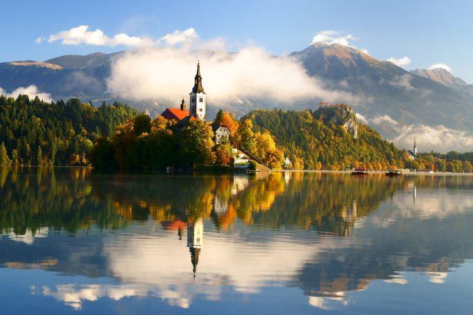 Lago mais lindo do mundo Bled Eslovênia