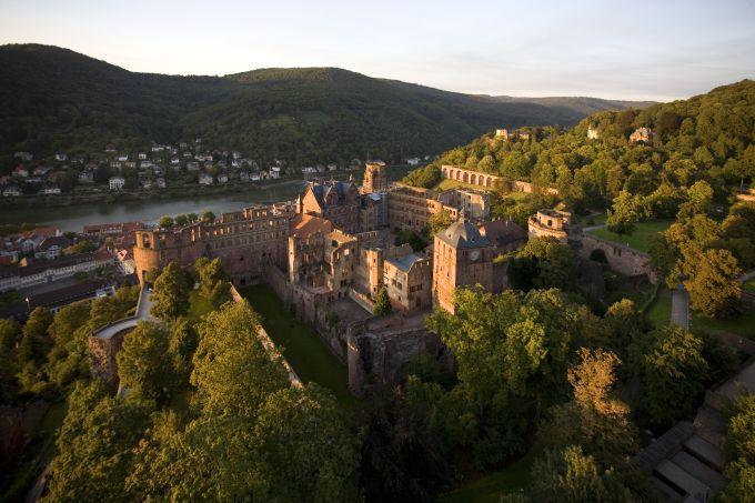 Vista área do castelo de Heidelberg