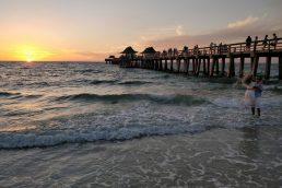 Por do sol na Florida