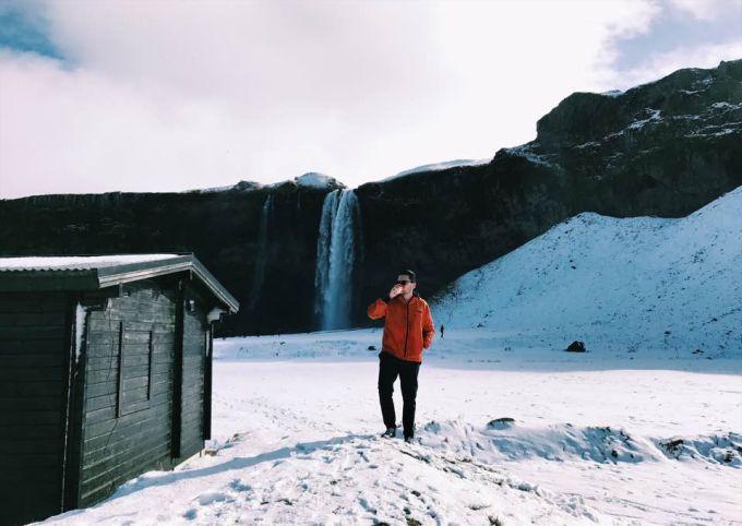 Estevam pelo Mundo na Islandia