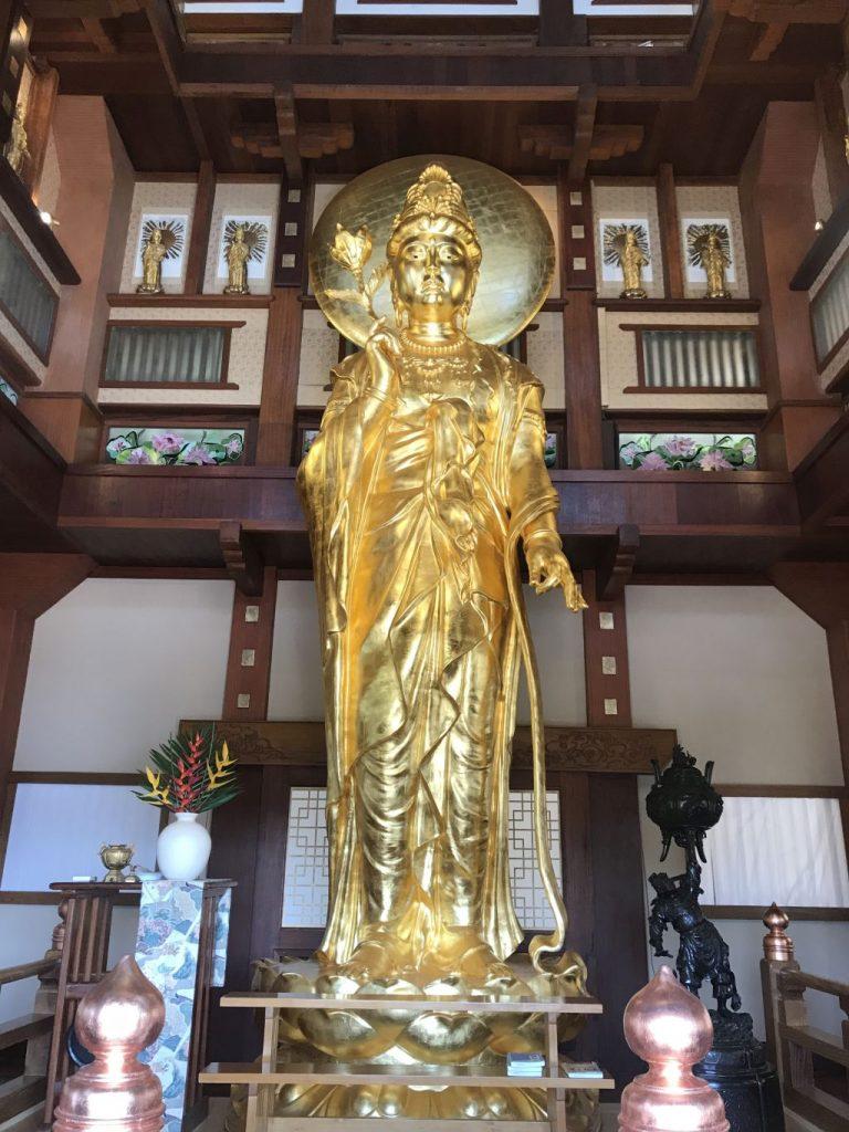 Escultura simbolizando Kannon | Divulgação