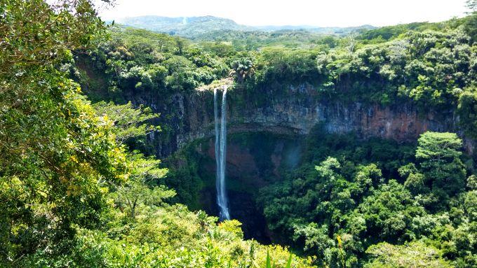 Cachoeira nas Ilhas Maurício