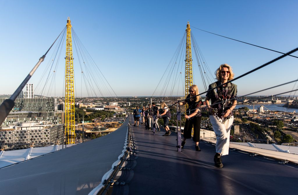O teto do O2 é outra atração no alto de Londres
