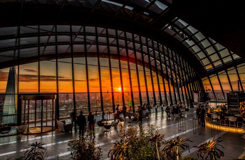 Sky Garden é uma das atrações de Londres para se curtir do alto