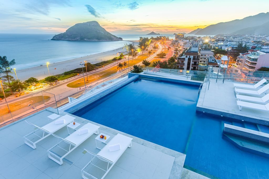 Hotel com vista para a praia no Rio de Janeiro   Divulgação