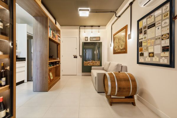 Apartamento com decoração de vinho | Divulgação