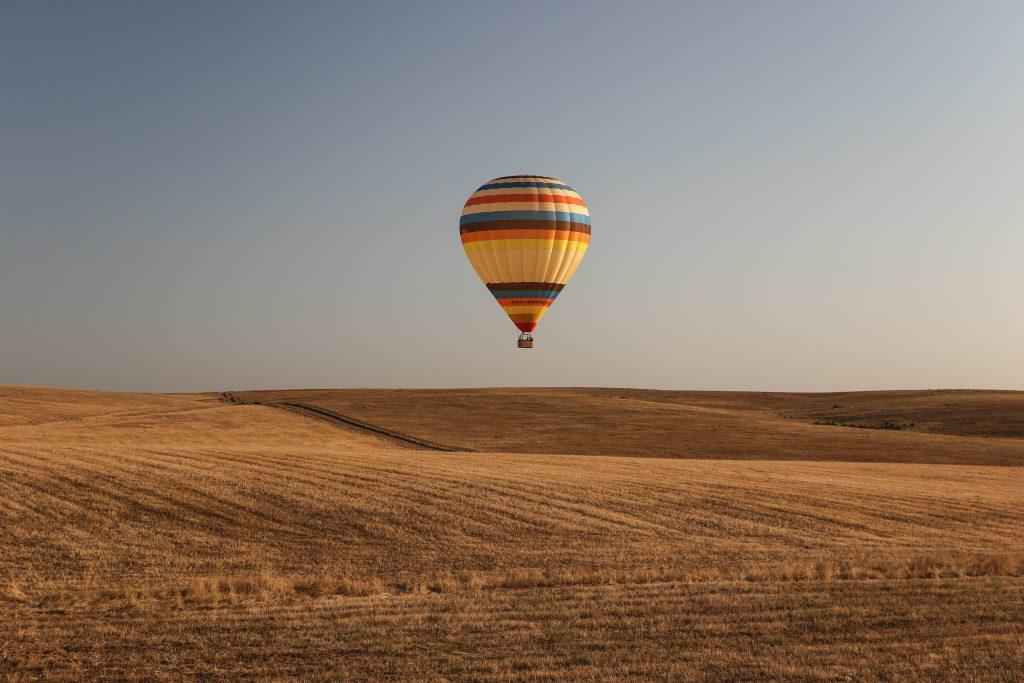 Passeio de balão permite admirar o Alentejo visto pelo alto | Divulgação