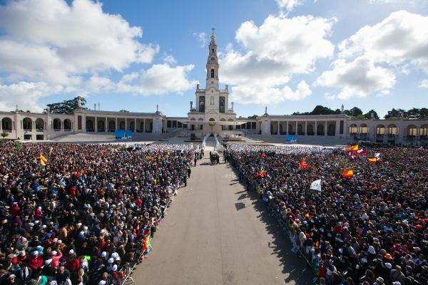 Santuário de Fátima durante a visita do Papa   Divulgação