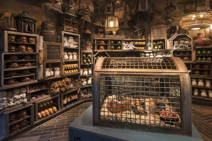 Inside the Creature Stall in Star Wars: Galaxy's Edge at Disneyland Park in California and opening Aug. 29, 2019, at Disney's Hollywood Studios in Florida, guests will find a plethora of rare and fascinating creatures that populate the galaxy. (Kent Phillips, photographer)