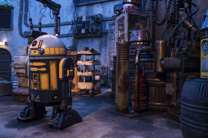 When guests explore Star Wars: Galaxy's Edge at Disneyland Park in California and opening Aug. 29, 2019, at Disney's Hollywood Studios in Florida, they will be immersed in an authentic Star Wars experience rich with detail from a galaxy far, far away. (David Roark, photographer)