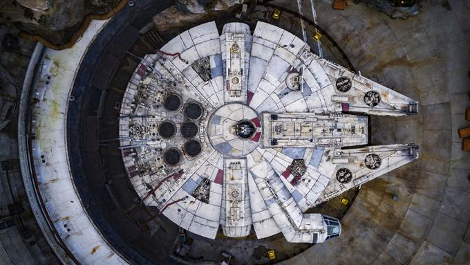 Millennium Falcon: Smugglers Run at Disneyland Park in California and opening Aug. 29, 2019, at Disney's Hollywood Studios in Florida will put guests in control of the fastest ship in the galaxy. They will be pilots, gunners or flight engineers in a smuggling run for Hondo Ohnaka. (Matt Stroshane, photographer)