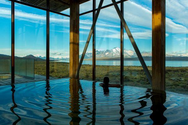 Vista da hospedagem no Chile | Divulgação