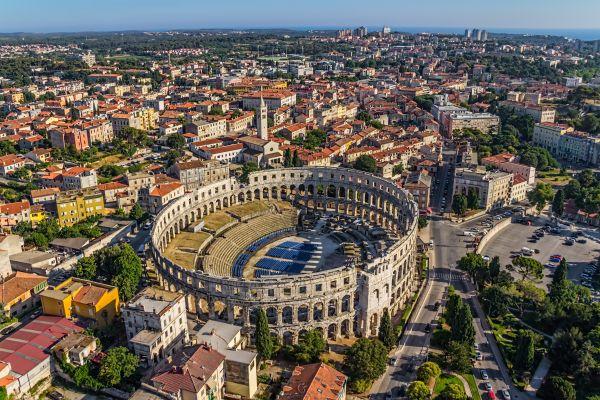 Vista da Arena de Pula na Croácia | Divulgação