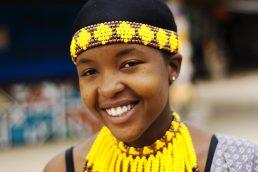 Roupas coloridas da África