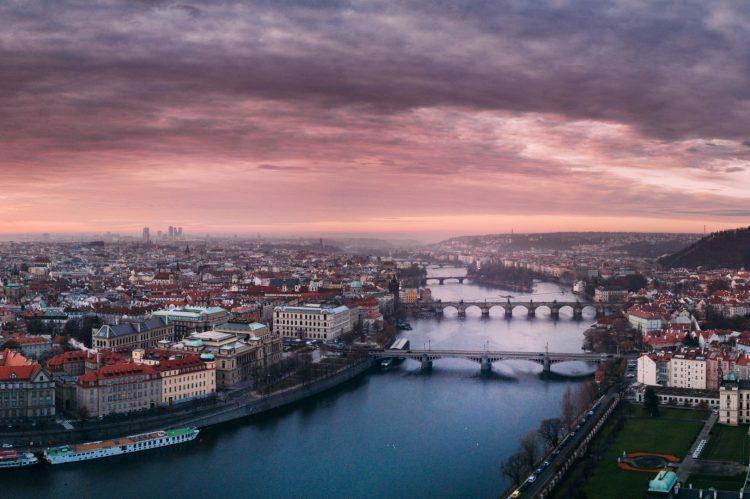 Vista aerea de Praga