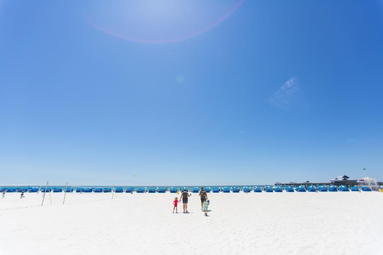 Praia em Clearwater Tampa Bay Florida