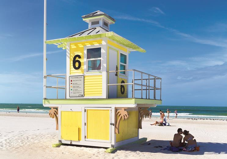 Lifeguard Station #6 Clearwater Beach, Florida